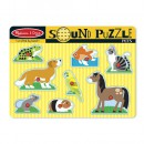Melissa and Doug Puzzle de Lemn cu Sunete Animale de Companie