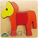 Lena Stick & Thread: Puzzle din lemn Cal (4 piese)