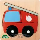 Lena Stick & Thread: Puzzle-uri din lemn Traffic (4, 5, 6 piese)